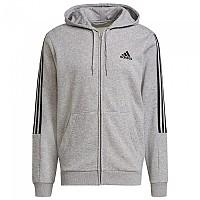 [해외]아디다스 Essentials Fleece Cut 3 Stripes Medium Grey Heather / Black