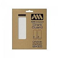 [해외]ALL MOUNTAIN STYLE Honeycomb Crank Guard Stickers 1138129121 Clear Silver