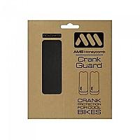 [해외]ALL MOUNTAIN STYLE Honeycomb Crank Guard Stickers 1138129122 Black / Silver