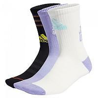 [해외]아디다스 Tiro 3 Stripes Socks 3138111606 Black / Off White / Light Purple