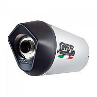 [해외]GPR EXHAUST SYSTEMS Furore Aluminium Slip On Muffler ZX-9R/ZX900E 00-01 Homologated 9138139851 Silver / Matt Black