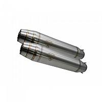 [해외]GPR EXHAUST SYSTEMS Deeptone Stainless Steel Caf? Racer Muffler With dB Killer Not Homologated 9138156465 Silver / Silver