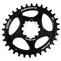 [해외]BLACKSPIRE Oval 스램 Direct Mount GXP 6 mm Offset Chainring 1138156715 Black