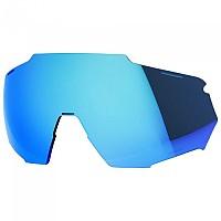 [해외]100% Racetrap Mirror Replacement Lenses 1138153581 HIPER Blue Multilayer Mirror