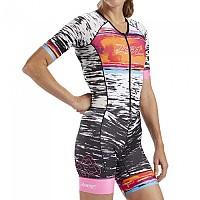 [해외]ZOOT LTD Aeri 83 Race Suit Short Sleeve Trisuit 1138152076 Zebra