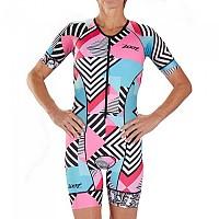 [해외]ZOOT LTD Aero Cali 19 Race Suit Short Sleeve Trisuit 1138152141 White / Blue / Pink