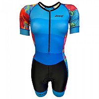 [해외]ZOOT Performance Front Zip Race Suit Short Sleeve Trisuit 1138152146 Blue / Black