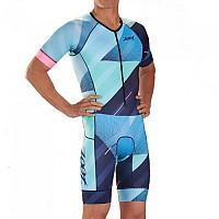 [해외]ZOOT Tri Aero Cali 19 Race Suit Short Sleeve Trisuit 1138152136 Blue