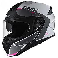 [해외]SMK Gullwing Kresto Modular Helmet 9138113856 Glossy White / Grey / Black / Pink