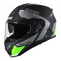 [해외]SMK Gullwing Kresto Modular Helmet 9138113857 Glossy Black / Grey / Fluo Yellow