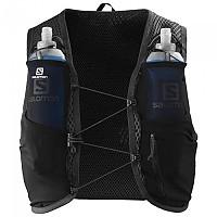 [해외]살로몬 Active Skin 4 Set Hydration Vest 4138166816 Black / Ebony