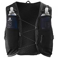 [해외]살로몬 Active Skin 8 Set Hydration Vest 4138166819 Black / Ebony
