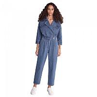 [해외]SALSA JEANS Denim Overall Collar Jumpsuit Blue