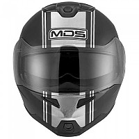 [해외]MDS MD200 Multi Modular Helmet 9137296646 Advance Matt Black / Silver