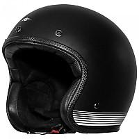[해외]RUSTY STITCHES Fonzie Open Face Helmet 9138192531 Matt Black / White