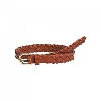 [해외]PIECES Avery Leather Braided Slim Belt Cognac