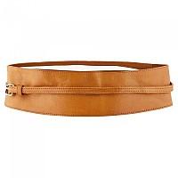 [해외]PIECES Vibs New Tie Waist Leather Belt Cognac