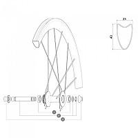 [해외]마빅 Kit Front Forkrest 12 mm 1137298872 Black