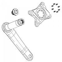 [해외]스램 Crank Bolt Kit Removable Spider Mounting Torx T20 8 Units 1137388132 Silver