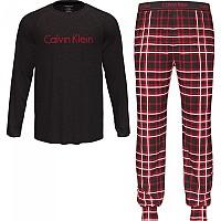 [해외]캘빈클라인 언더웨어 Long Sleeve Set Pants Pyjama Almost Blk Top / Jones Plaid Bottom