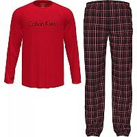 [해외]캘빈클라인 언더웨어 Long Sleeve Set Pants Pyjama Red Top / Vertical Boat Stripe Bottom