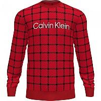 [해외]캘빈클라인 언더웨어 Sweatshirt Window Pane / Printed Rustic Red