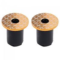 [해외]DEDA Loop End Handlebar Plugs 1138224288 Gold / White