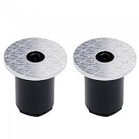 [해외]DEDA Loop End Handlebar Plugs 1138224291 Silver / White