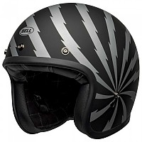 [해외]BELL Custom 500 DLX SE Vertigo Open Face Helmet 9138217150 Matt Black / Silver