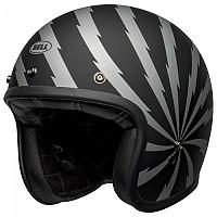 [해외]BELL Custom 500 DLX SE Vertigo Open Face Helmet 9138217151 Matte Black / Silver