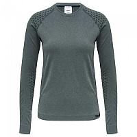[해외]험멜 CI Seamless Long Sleeve T-Shirt 3138037928 Darkest Spruce Melange
