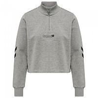 [해외]험멜 Legacy Nikka Cropped Half Zip Sweatshirt 3138223084 Grey Melange
