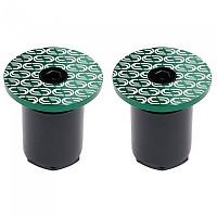 [해외]DEDA Loop End Handlebar Plugs 1138224289 Green / White