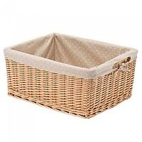 [해외]BONIN Polka Dot Lining For Large Rectangular Wicker Basket 1138228592 Ochre