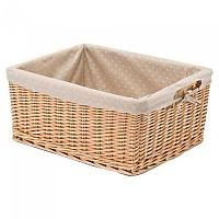 [해외]BONIN Polka Dot Lining For Small Rectangular Wicker Basket 1138228593 Ochre