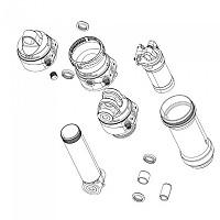 [해외]락샥 Super Deluxe Thrushaft C1 2021 62.5 mm Rear Shock Damper Body 1137795697