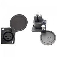 [해외]G-KOS Panel Socket For 3 Pins Lithium Batteries 1138241569 Black