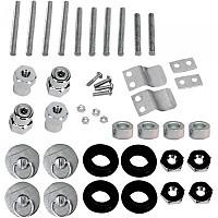 [해외]새들맨 Honda/Triumph/Victory S4 Quick Disconnect Docking Post&Fastener Kit 9137476166 Silver