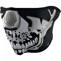 [해외]ZAN 헤드기어 Neoprene Half Face Mask 9137336835 Chrome Skull
