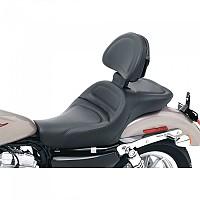 [해외]새들맨 Harley Davidson XLC Explorer Seat W/Backrest 9137363817 Black