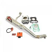 [해외]ATHENA P400270100018 Big Bore Cylinder Kit&Exhaust Pipe Ø65 mm 160cc 9138264317 Multicolour