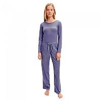 [해외]캘빈클라인 언더웨어 Long Sleeve Set Pyjama Textured Bark Print / Bleached Denim