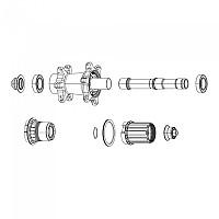 [해외]스램 Zipp Cognition V2 Axle Rear With Bearings 1138283241 Black