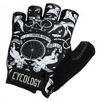 [해외]CYCOLOGY Velo Tattoo Short Gloves 1138223133 Black