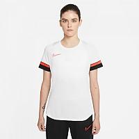 [해외]나이키 Dri Fit Academy Short Sleeve T-Shirt 3138251634 White / Black / Bright Crimson
