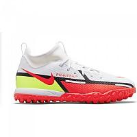 [해외]나이키 Phantom GT2 Academy DF TF Football Boots 3138253605 White / Bright Crimson-Volt