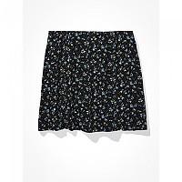 [해외]아메리칸 EAGLE Floral Notched Mini Skirt Black
