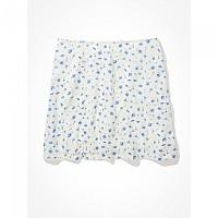 [해외]아메리칸 EAGLE Floral Notched Mini Skirt White