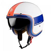 [해외]MT HELMETS Le Mans 2 SV Tant Open Face Helmet 9138277665 Gloss Pearl / Red / Blue