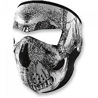 [해외]ZAN 헤드기어 Neoprene Full Face Mask 9137336828 Black / White Skull Face